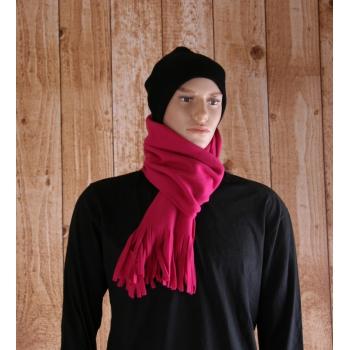 Sjaal met franjes donker fuchsia