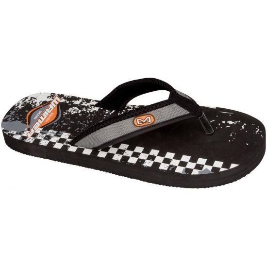 Slippers met zwarte print