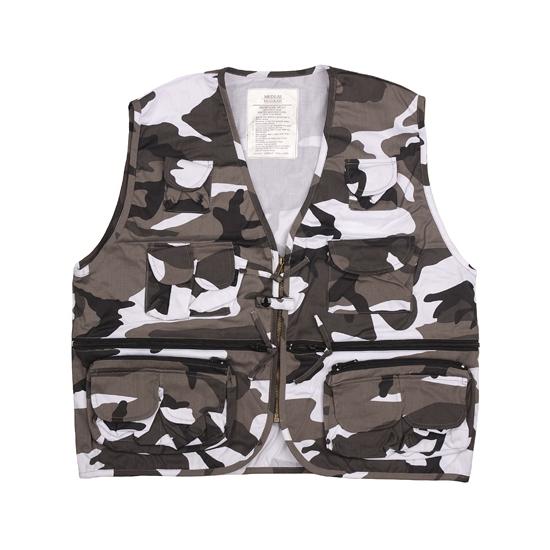 Soldaten vest met urban camouflage