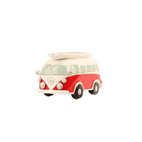 Spaarpot rode Volkswagen bus