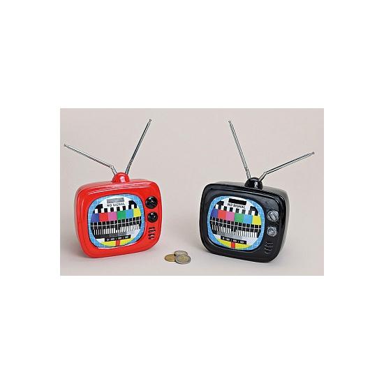 Spaarpot televisie zwart