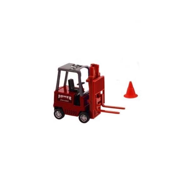 Speelgoed heftruck rood 17 cm