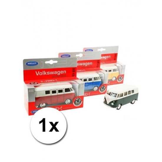 Speelgoed Volkswagen T1 rode bus 15 cm