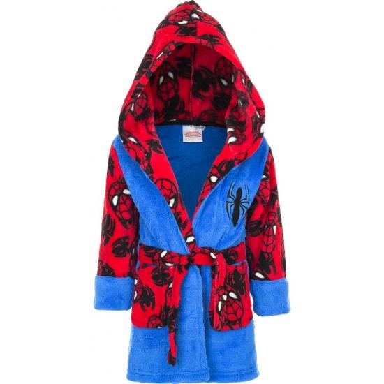 Spiderman badjas jongen blauw/rood