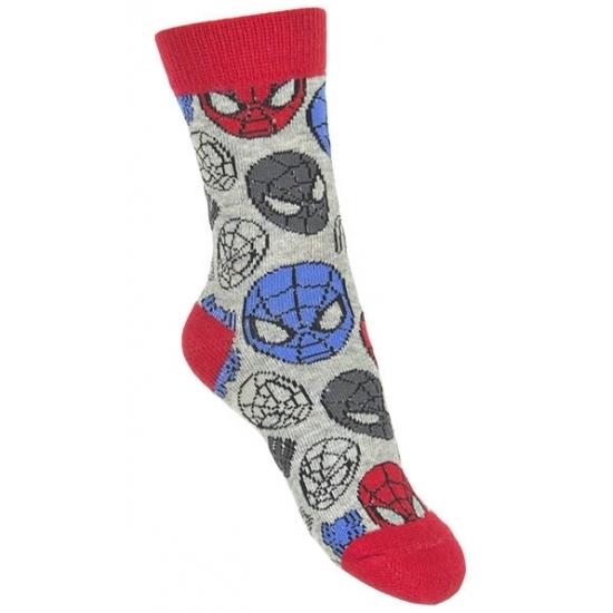 Spiderman jongens sokken grijs type 1