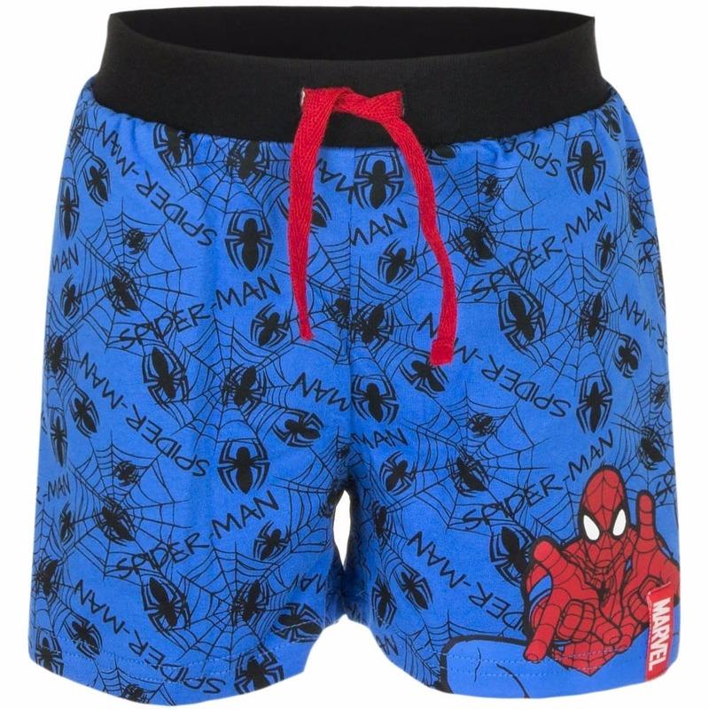 Spiderman korte broek blauw voor jongens