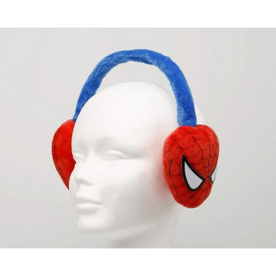 Spiderman oorwarmers rood blauw