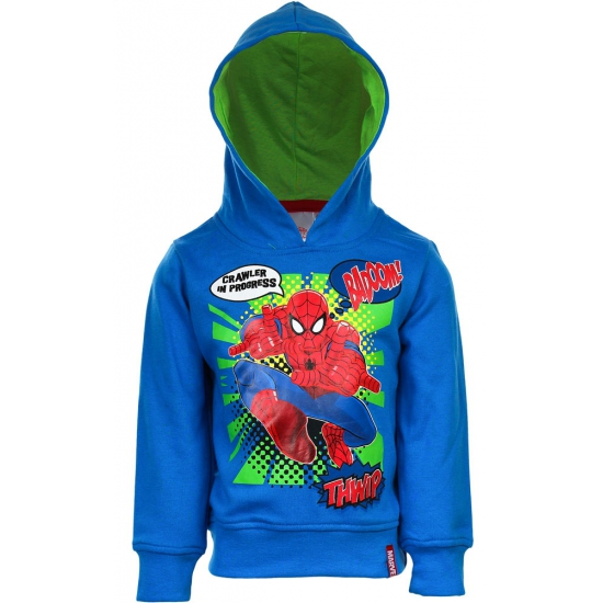 Spiderman sweater blauw