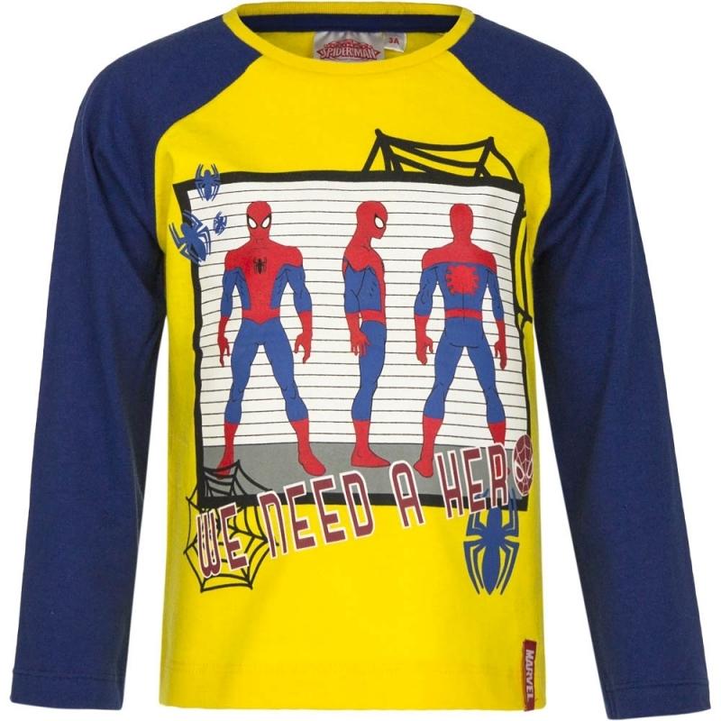 Spiderman t shirt geel/blauw voor jongens
