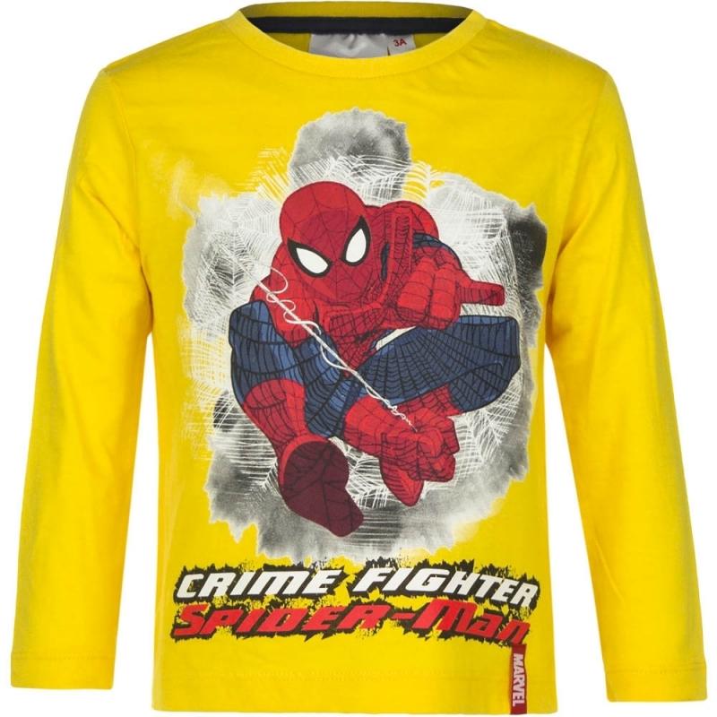 Spiderman t shirt geel voor jongens
