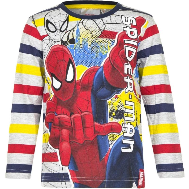 Spiderman t shirt gestreept voor jongens
