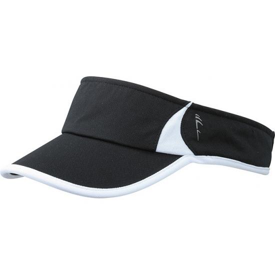 Sportieve zonneklep zwart/wit