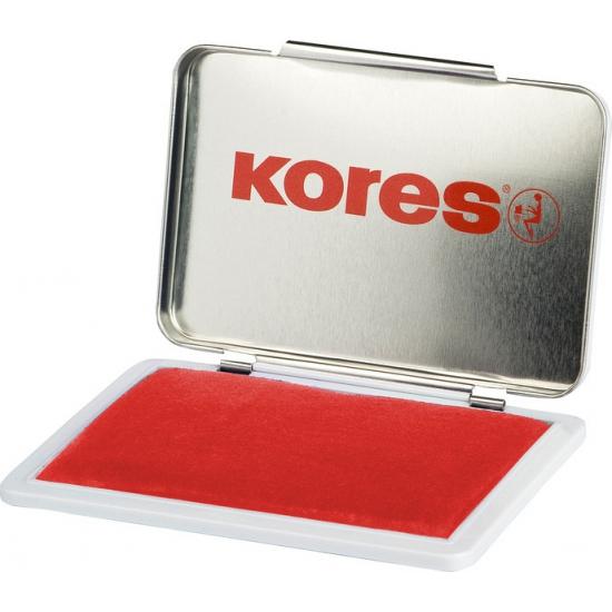 Stempel kussen rood 7 x 11 cm