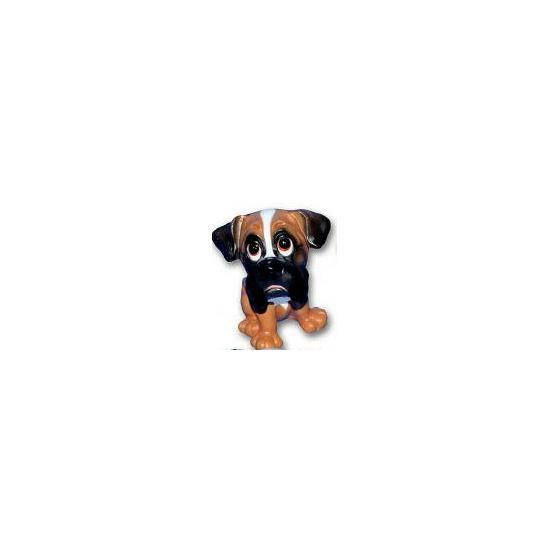 Stenen Boxer puppies zittend 13 cm