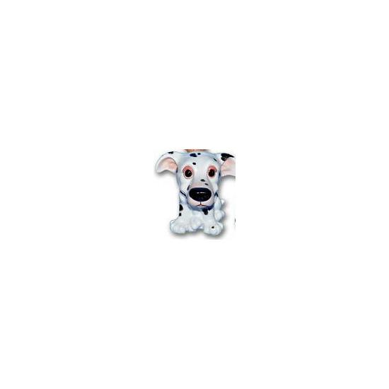 Stenen Dalmatier puppie zittend 13 cm