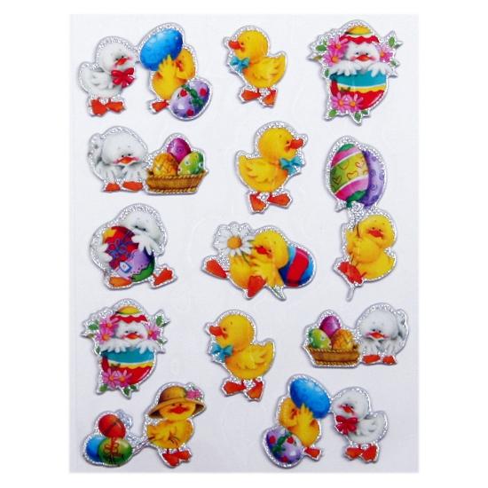 Stickers paaskuiken 13 stuks
