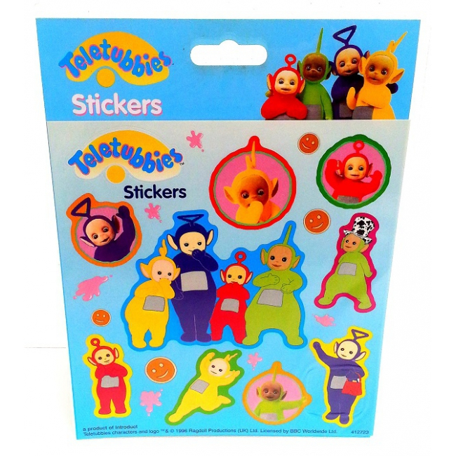 Stickervel met Teletubbies