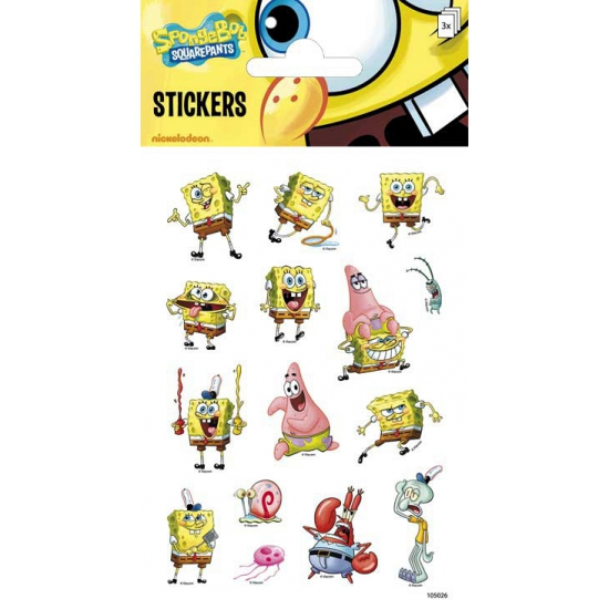 Stickervellen Spongebob