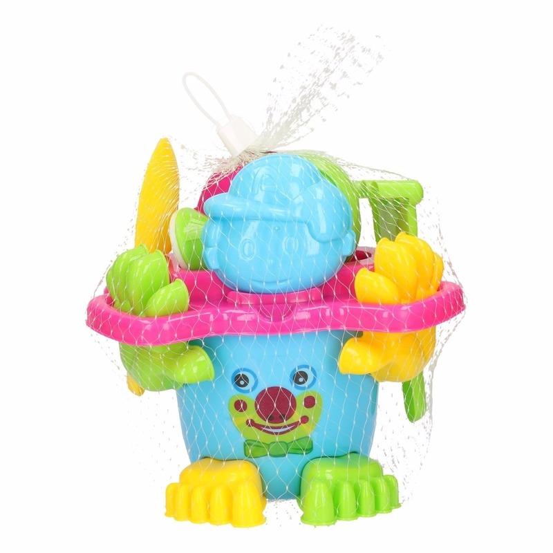 Strand speelgoed emmer blauw met accessoires