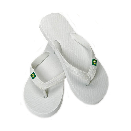 Strand teenslippers voor heren wit