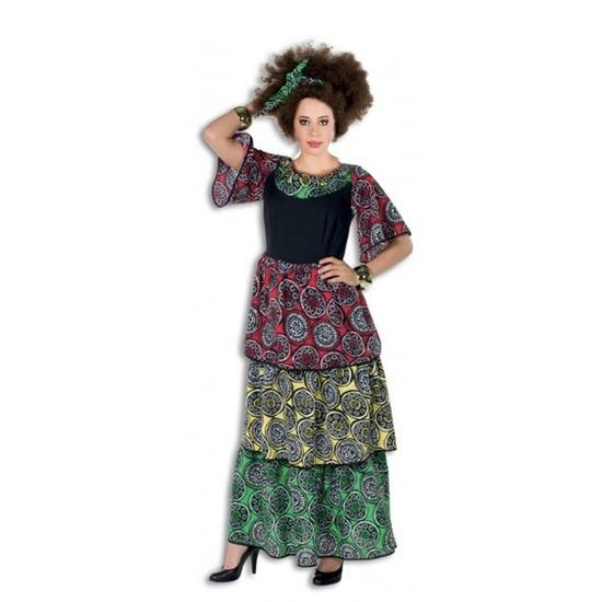 Lange jurk jamaicaans