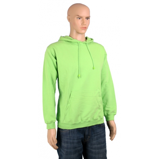 Sweater met capuchon lime