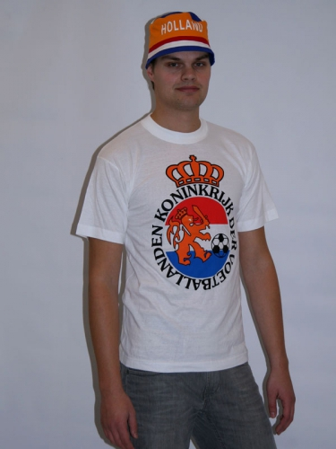 Witte voetbal t shirt wapen voetbal