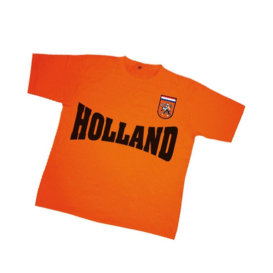 T shirt met Holland en badge voor kinderen