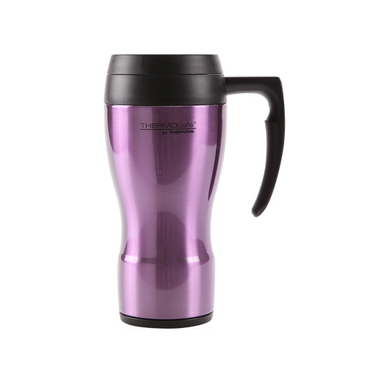 Thermosbeker koffie paars 450 ml