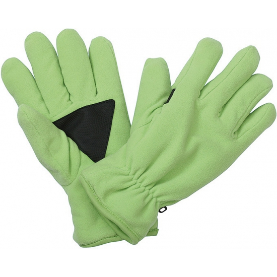 Thinsulate fleece handschoenen lime