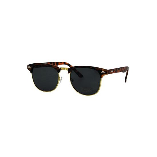 Trendy turtle bruine Clubmaster zonnebrillen