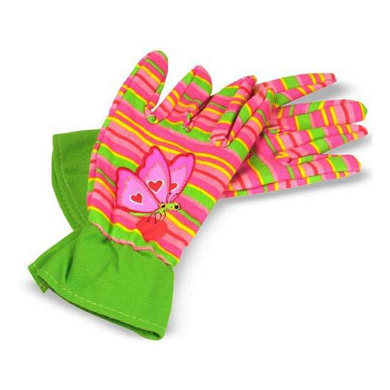 Tuin handschoenen met vlinder