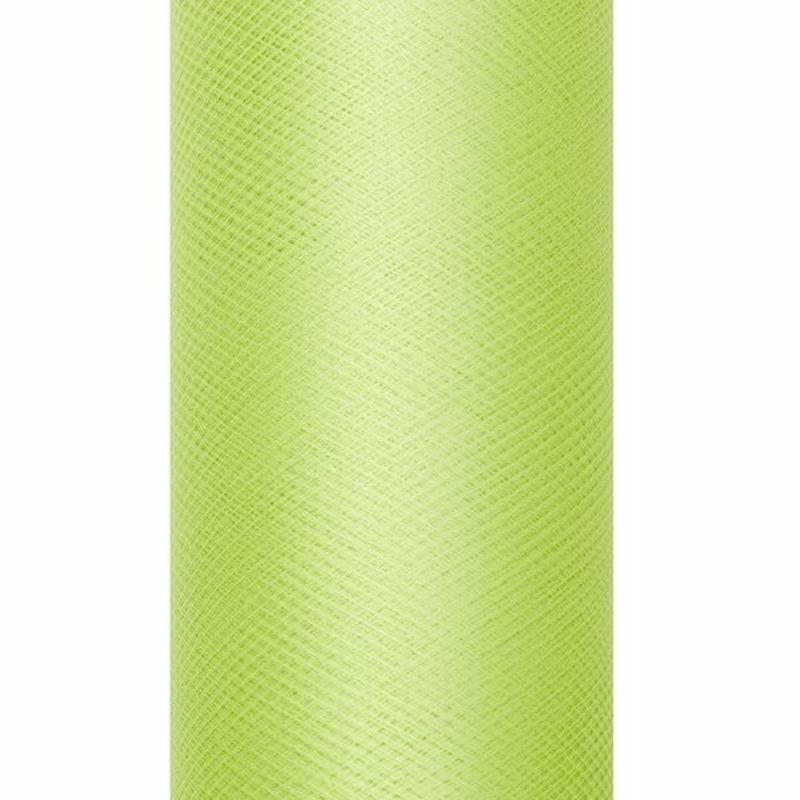 Tule stof licht groen 15 cm breed