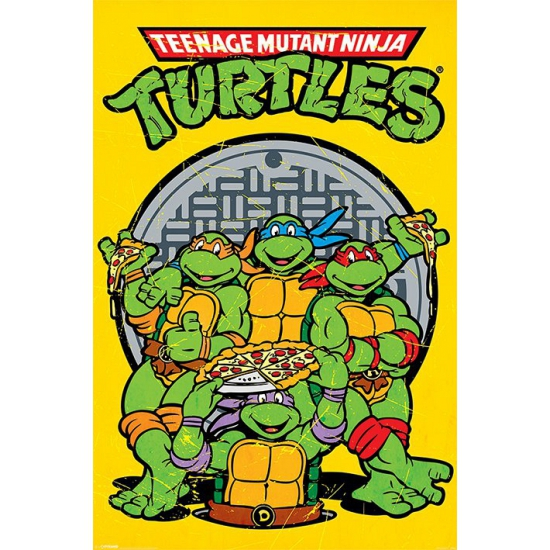 Turtles poster 61 x 91,5 cm