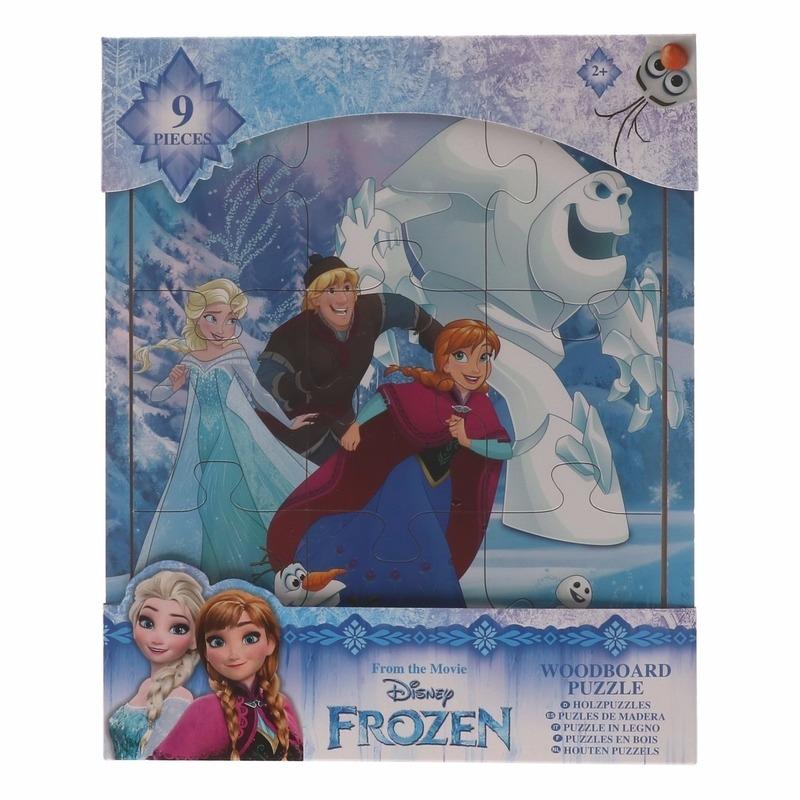 Uitdeel speelgoed Frozen puzzels 9x