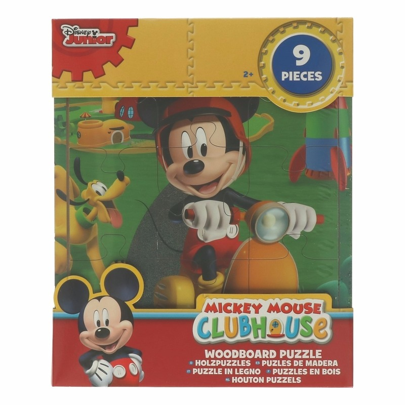 Uitdeel speelgoed Mickey Mouse puzzels 9x