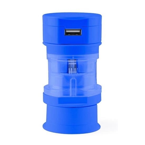 Universele USB stekker blauw
