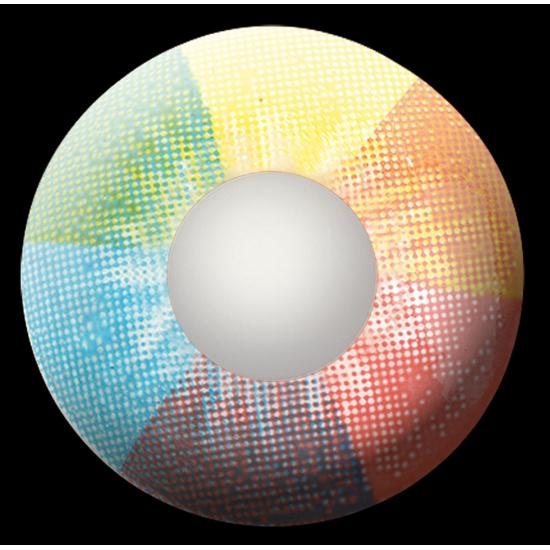 UV flits party lenzen regenboog
