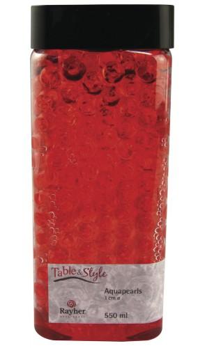 Vaas water parels rood 1 cm