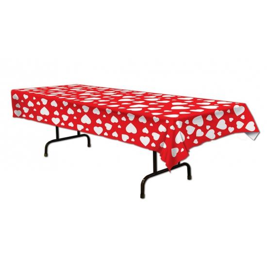Valentijn Hartjes tafelkleed 274 cm