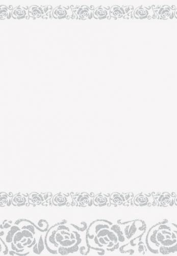 Valentijn Wit tafelkleed met zilveren rozen