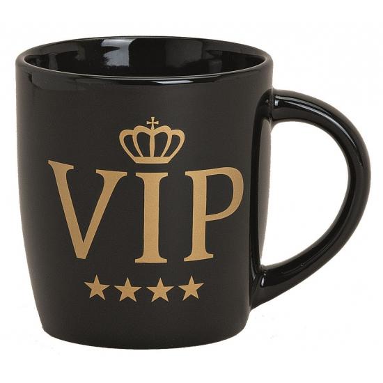 VIP beker zwart met goud 9 cm