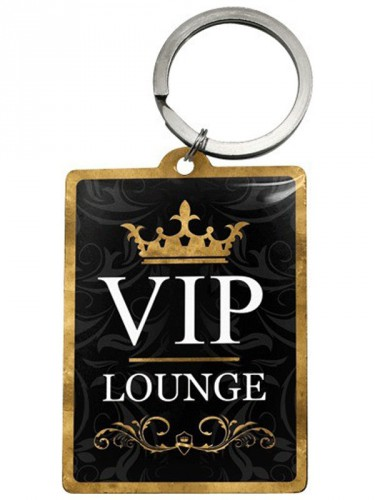 VIP thema Lounge sleutelhanger 4,5 x 6 cm