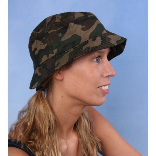 Vissershoedjes in camouflage print