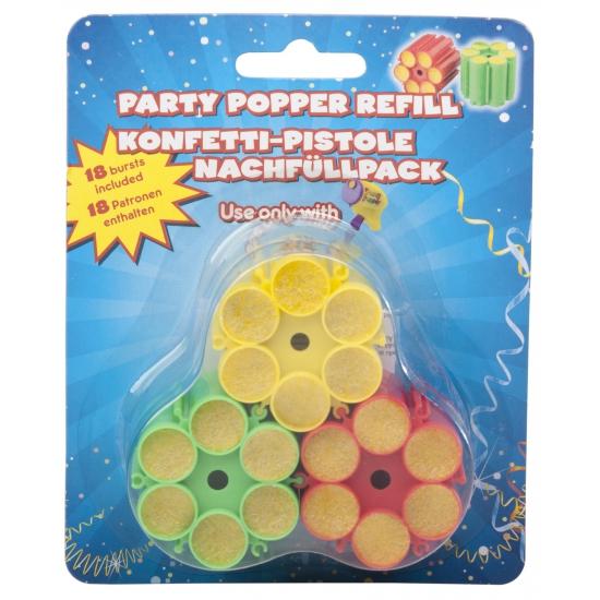 Party popper 4 keer vulling