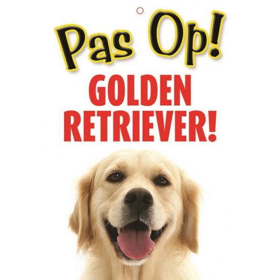 Waakbord Golden Retriever hond