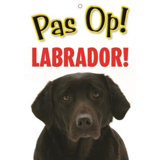 Waakbord Labrador hond