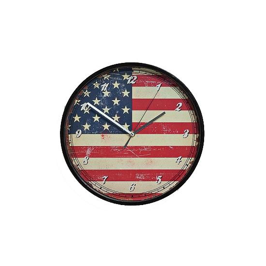 Wandklok Amerika vintage 30 cm