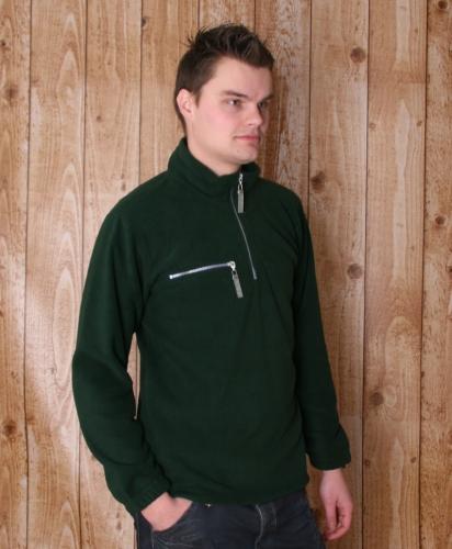 Warme groen gekleurde fleece trui