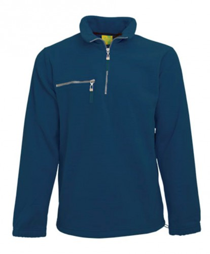 Warme navy gekleurde fleece trui